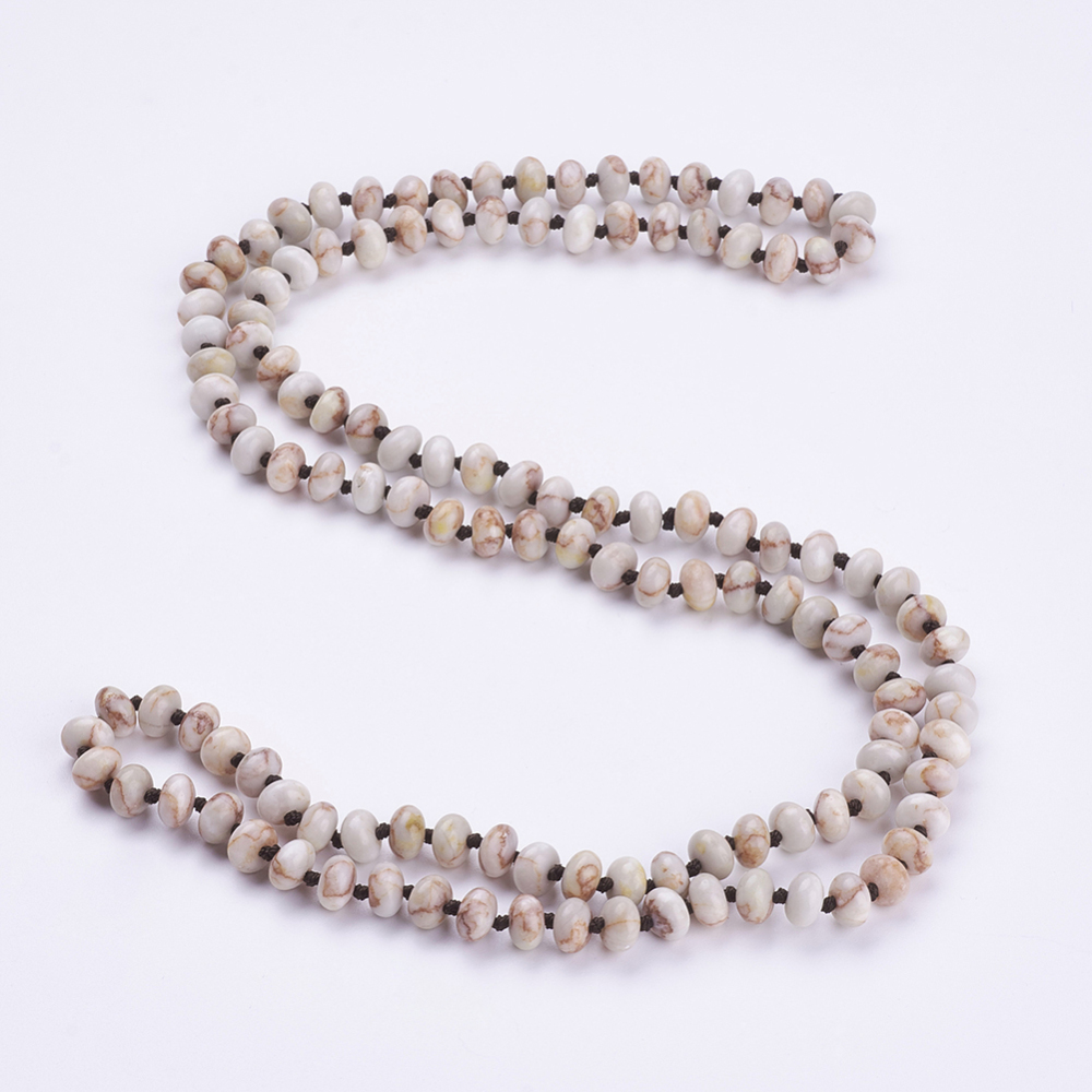 "PandaHall_Natural_Netstone_Beaded_Multi-use_Necklaces_Wrap_Bracelets,_Three-Four_Loops_Bracelets,_Abacus,_37.4""(95cm)_Netstone"