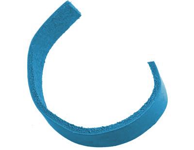 PandaHall Imitation Leather Cord, DeepSkyBlue, 15x1.5mm Imitation Leather Blue
