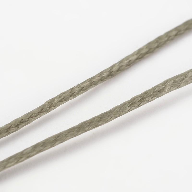 PandaHall Waxed Polyester Cord, DarkKhaki, 1x0.5mm; 10m/roll Waxed Polyester Cord Yellow