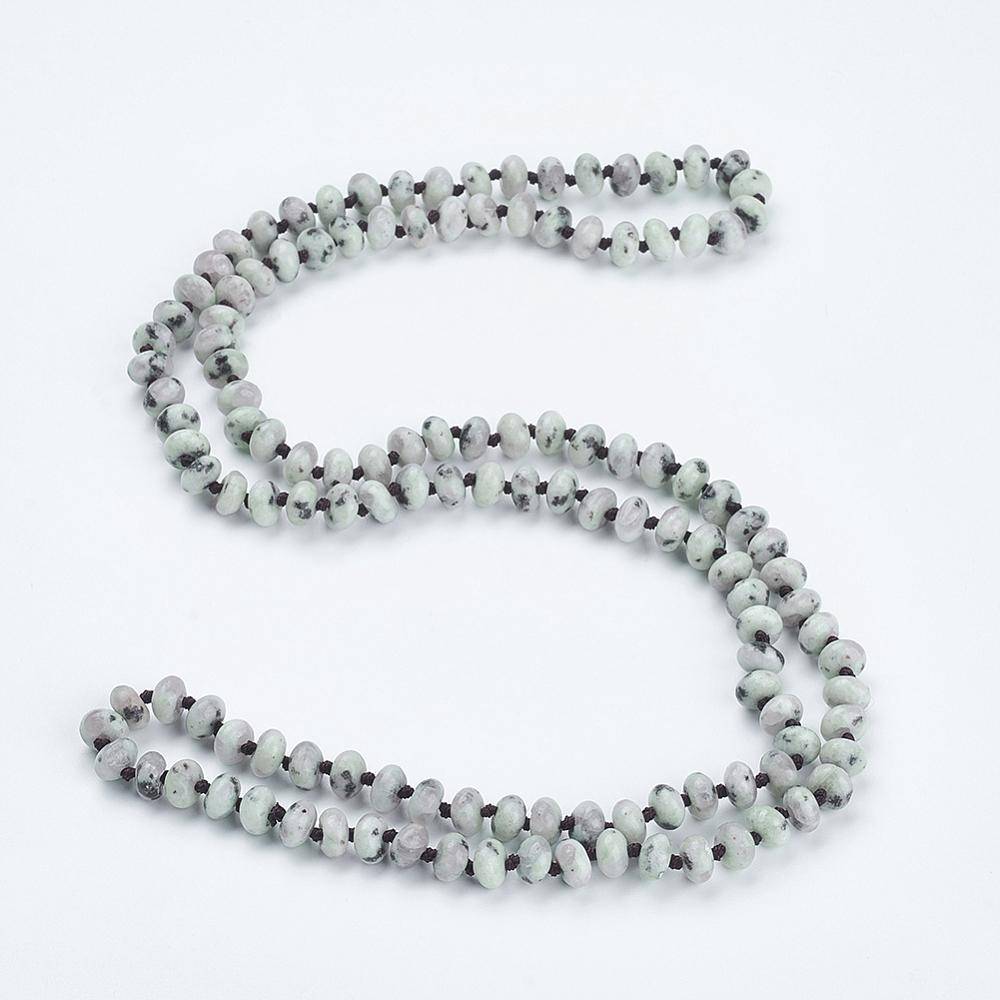 "PandaHall_Natural_Sesame_Jasper_Beaded_Multi-use_Necklaces_Wrap_Bracelets,_Three-Four_Loops_Bracelets,_Abacus,_37.4""(95cm)_Jasper"