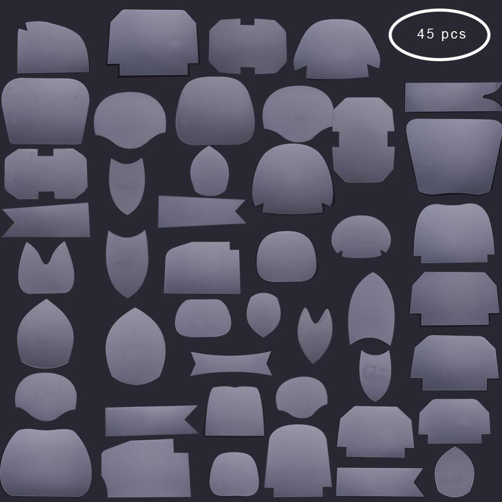 PandaHall Transparent Acrylic Mixed Quilt Template, Handmade Patchwork Fabric DIY Template, Handmade Sewing Tool Sets, Clear...