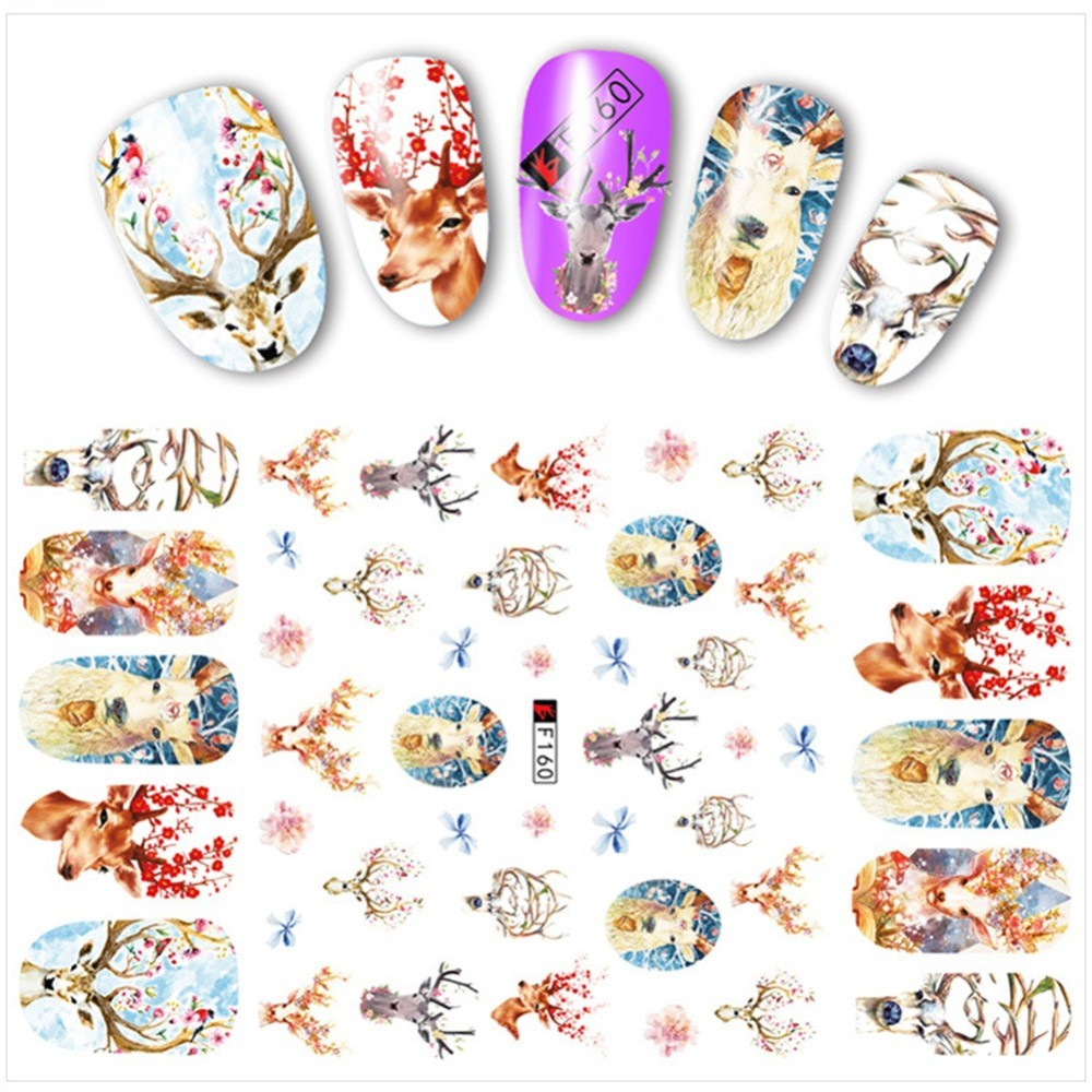 PandaHall Nail Art Stickers Decals, Colorful Others Others