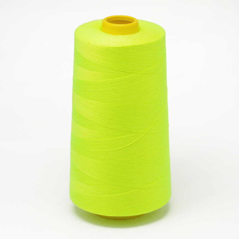 PandaHall 100% Spun Polyester Fibre Sewing Thread, GreenYellow, 0.1mm; about 5000yards/roll Polyester Green
