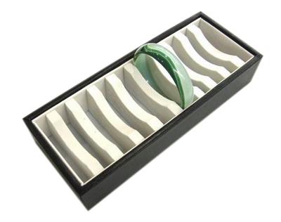 PandaHall_Cardboard_Bracelets_Display_Trays,_for_10_Bracelets,_Black,_about_9.5cm_wide,_24cm_long,_4.5cm_high_Fibre_Black