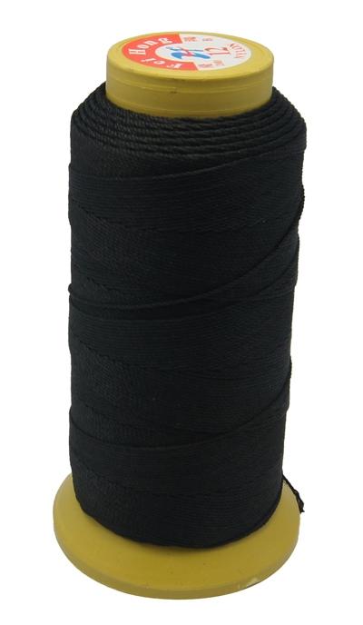 PandaHall Nylon Sewing Thread, 3-Ply, Spool Cord, Black, 0.33mm, 1000yards/roll Nylon Black