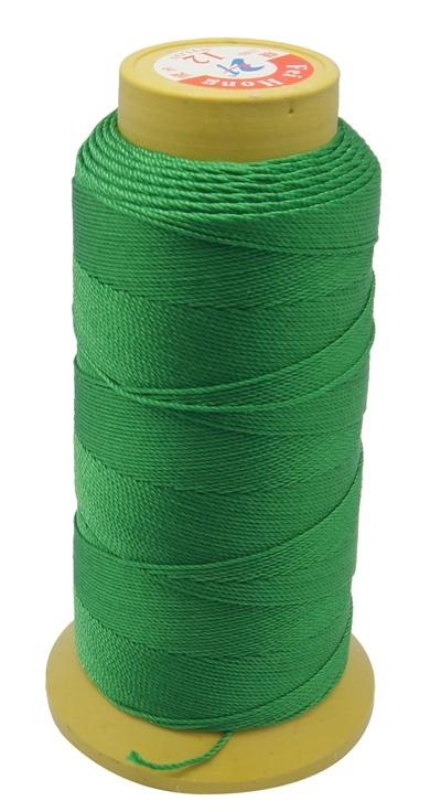 PandaHall Nylon Sewing Thread, 9-Ply, Spool Cord, Green, 0.55mm, 200yards/roll Nylon Green