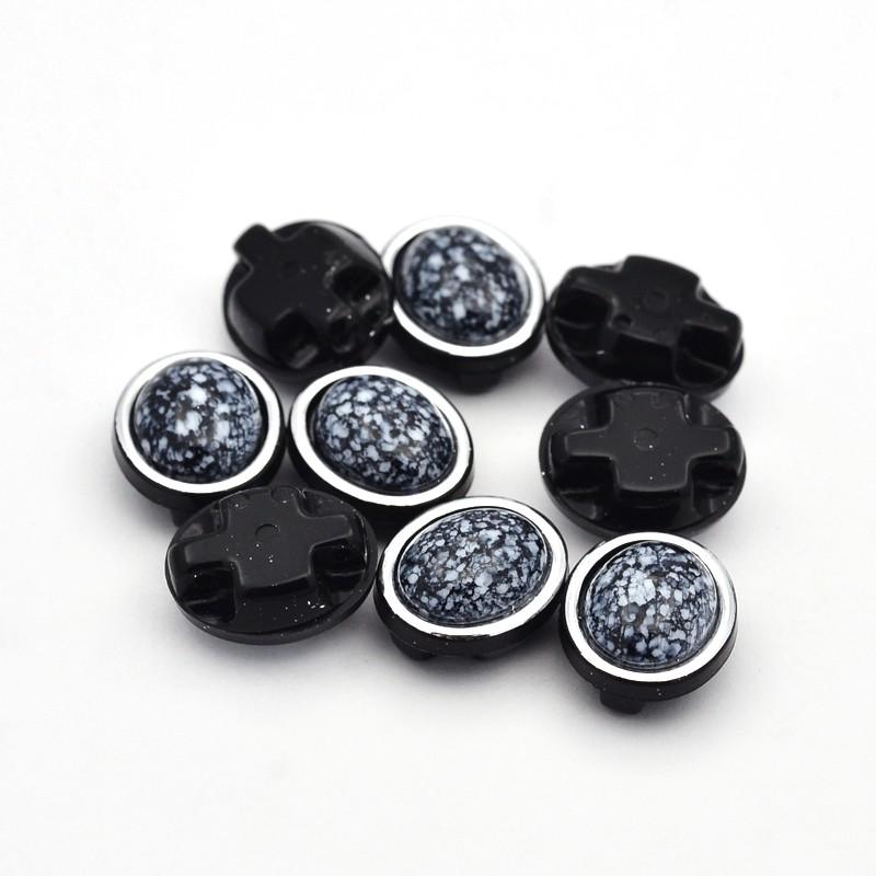 PandaHall Sew on Taiwan Acrylic, Garment Accessories, Oval, Black, 13x11x7mm, Hole: 1mm Acrylic Oval Black