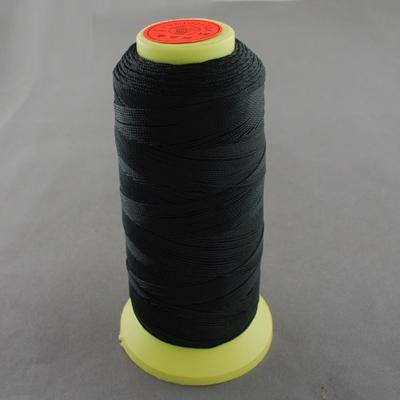 PandaHall Nylon Sewing Thread, Black, 0.8mm, about 300m/roll Nylon Black